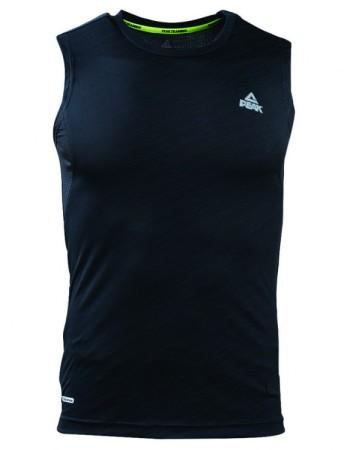 PEAK Pánske športové tričko bez rukávov - black