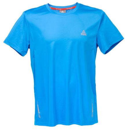 PEAK Pánske bežecké tričko - blue