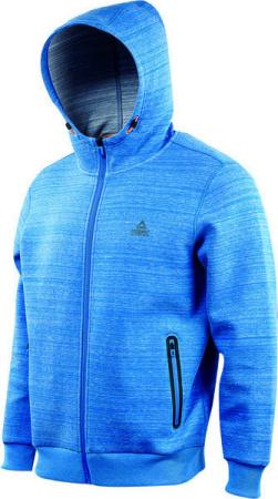 PEAK Hoodie Zip pánska mikina s kapucňou - heat blue