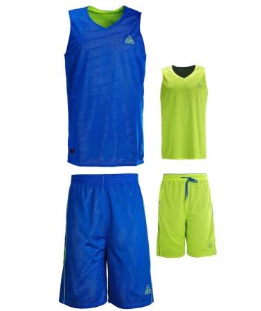 PEAK Reversible Uniform Basketbalový obojstranný set - blue/yellow