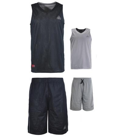 PEAK Reversible Uniform Basketbalový obojstranný set - black/grey