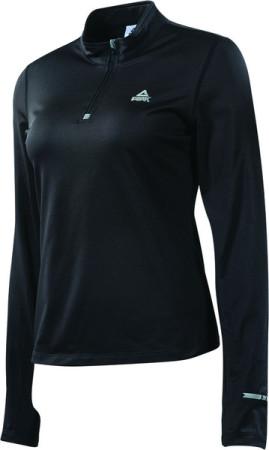 PEAK dámske bežecké tričko dlhý rukáv - black