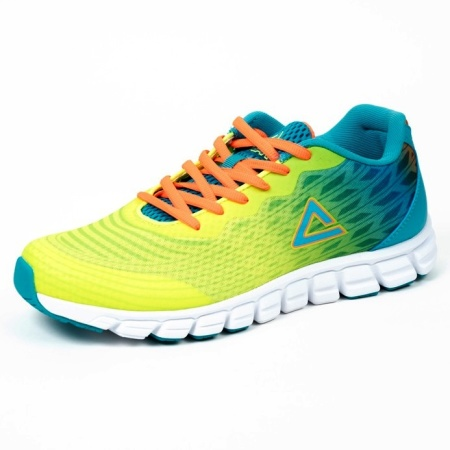 PEAK bežecké topánky - fluorescent yellow/blue