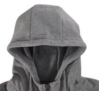 PEAK Tony Parker mikina s kapucí na zip - grey