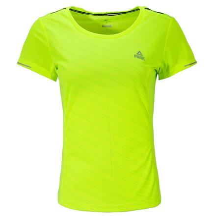 PEAK RUN W dámske bežecké tričko - fluorescent yellow