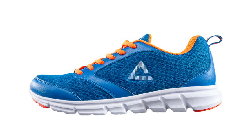 PEAK running shoes mens blue E53067H