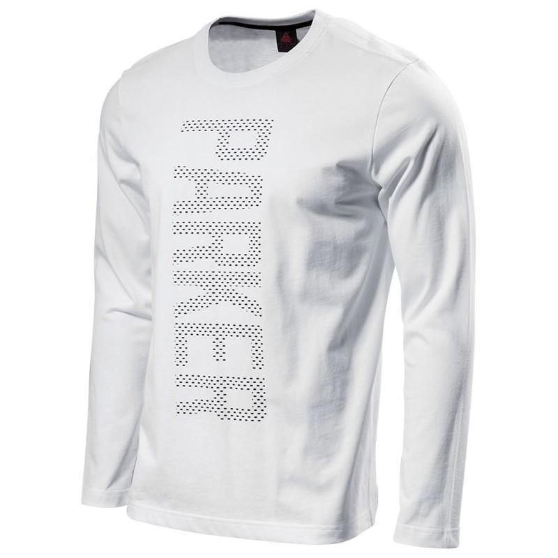 PEAK Tony Parker pánské triko dlouhý rukáv - white