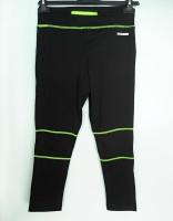 PEAK Running dámské běžecké 3/4 elastické kalhoty - black/yellow