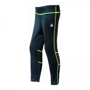 PEAK Running dámske bežecké 3/4 elastické nohavice - black/yellow