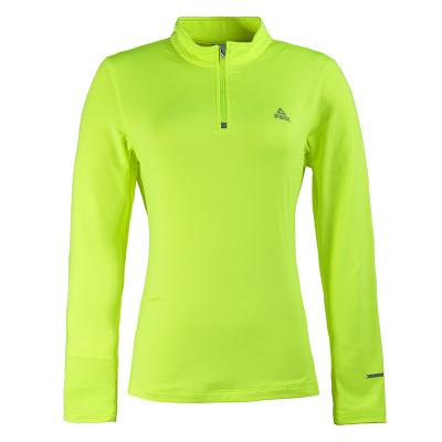 PEAK dámske bežecké tričko dlhý rukáv - fluorescent green