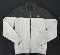 PEAK pánská mikina na zip - melange grey