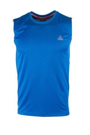 PEAK Pánske športové tričko bez rukávov - blue