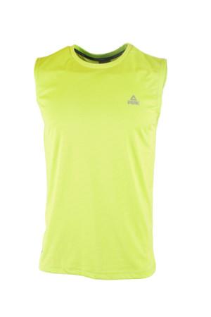 PEAK Pánske športové tričko bez rukávov - fluorescent green