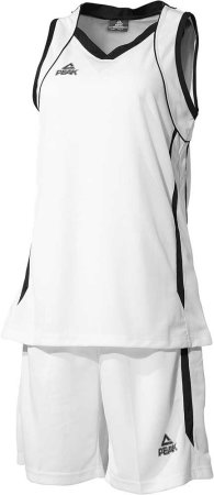 PEAK Basketball Uniform W dámska basketbalová súprava - white/black