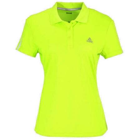 PEAK Cross Training dámske funkčné polo tričko - fluorescent yellow