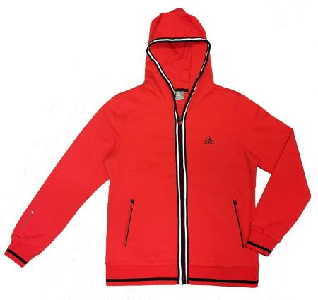 PEAK Knitted dámska mikina s kapucňou - red