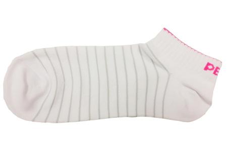 PEAK kontíkové ponožky - white/fluorescent red