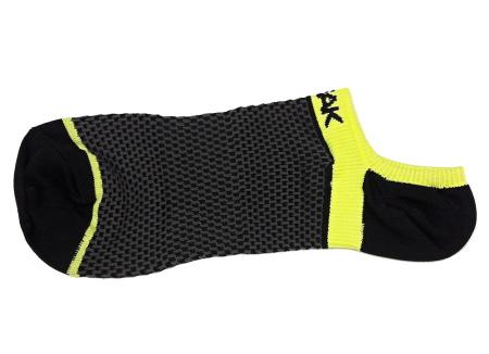 PEAK nízke kontíkové ponožky - black/fluorescent yellow