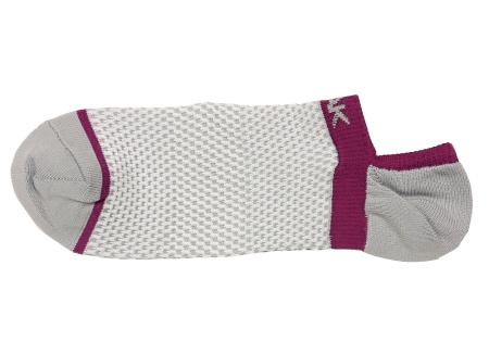 PEAK nízke kontíkové ponožky - grey/purple