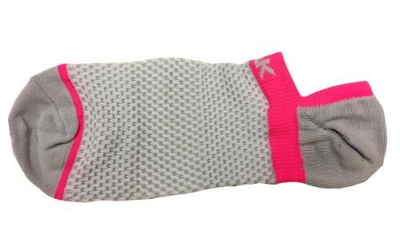 PEAK nízke kontíkové ponožky - grey/fluorescent red