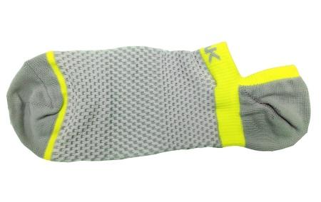 PEAK nízke kontíkové ponožky - grey/fluorescent yellow