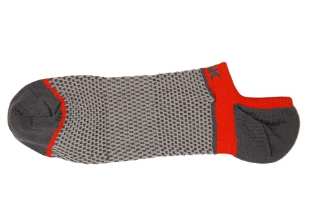 PEAK nízke kontíkové ponožky - grey/red